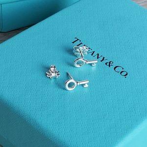 Tiffany Mini Key Stud Earrings